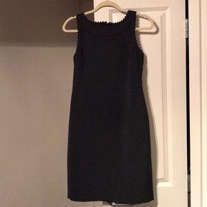 Ann Taylor Blue Scallop Dress